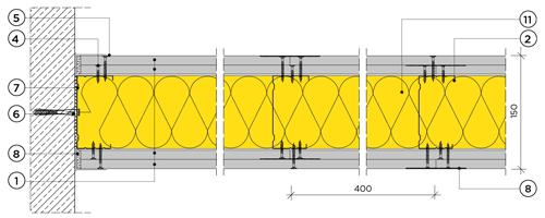 Двупластова преградна стена с конструкция 100mm
