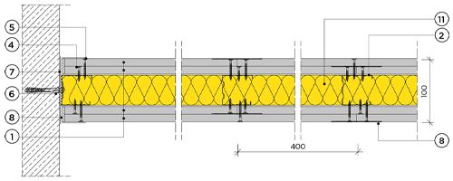 Двупластова преградна стена с конструкция 50mm