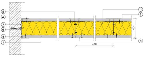 Еднопластова преградна стена с конструкция 75mm
