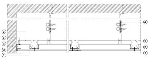 Окачен таван от метална конструкция и гипскартон